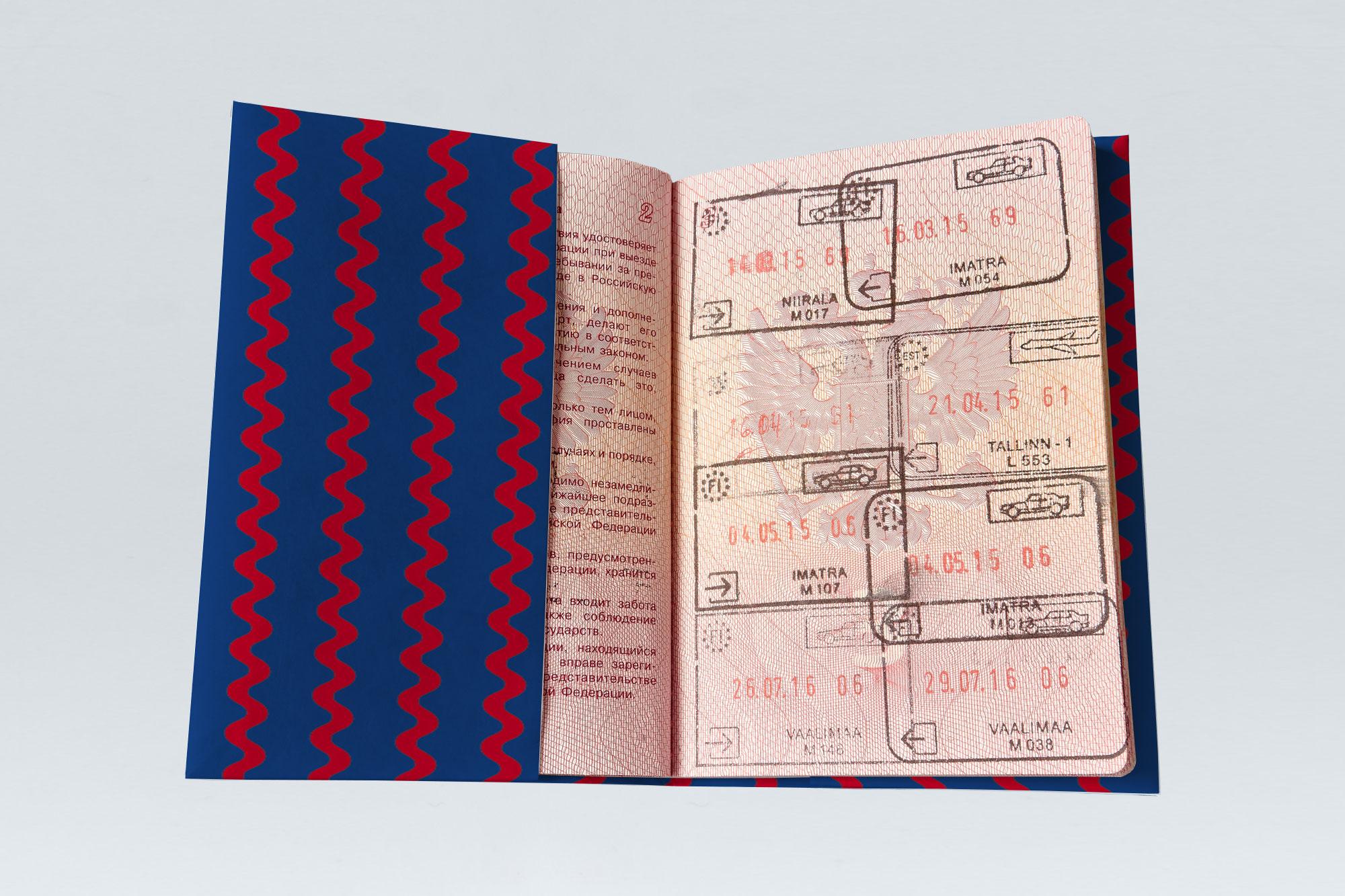 Обложка на паспорт NEW WALLET - New Law; сделан из Tyvek®