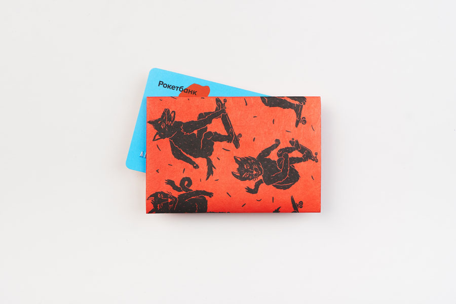 Кардхолдер NEW WALLET - New Skatewilde; сделан из Tyvek®