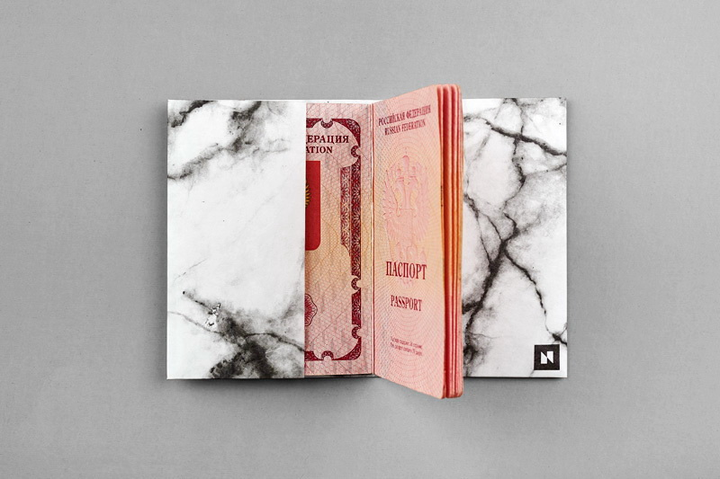 Обложка на паспорт NEW WALLET - New Moonlight; сделан из Tyvek®
