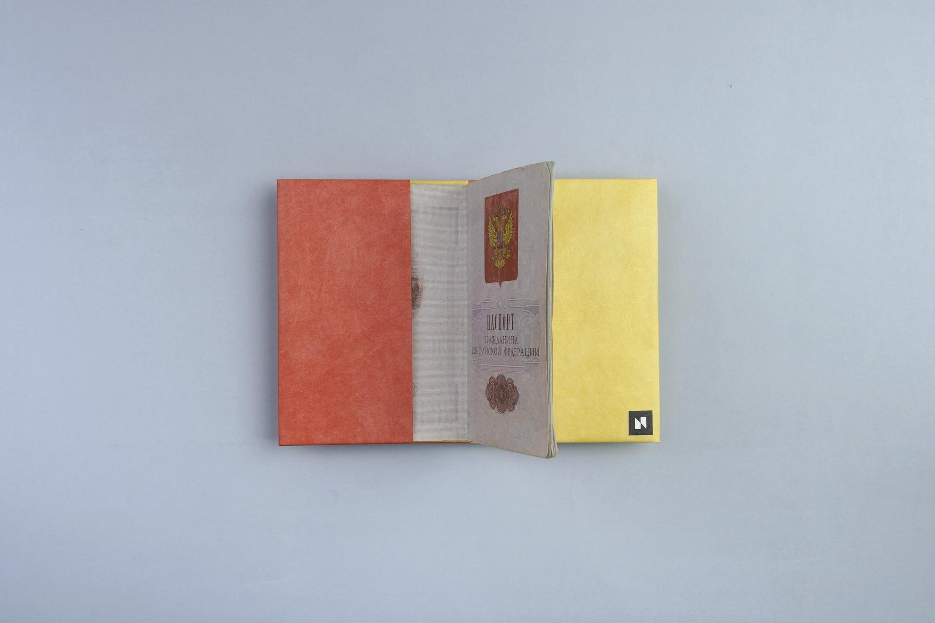 Обложка на паспорт NEW WALLET - New A; сделан из Tyvek®