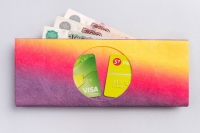 Кошелек NEW WALLET - New Gradient; сделан из Tyvek®